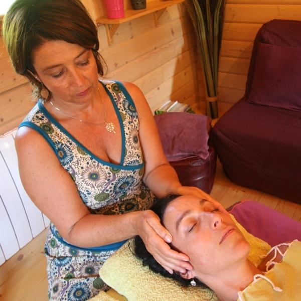 """Massage """"trapèzes, nuque, visage et crâne"""""""