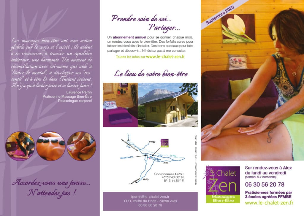 Plaquette Chalet Zen 2020